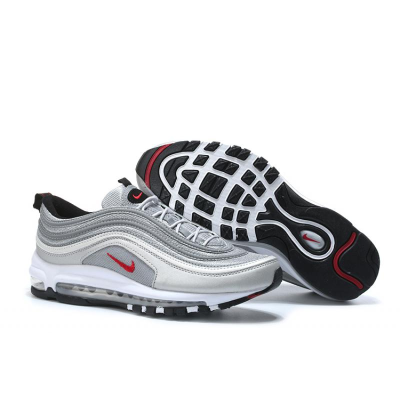 low priced e8ead bae66 Nike Air Max 97 OG QS Silver Bullet Metallic SilverVarsity Red- ...