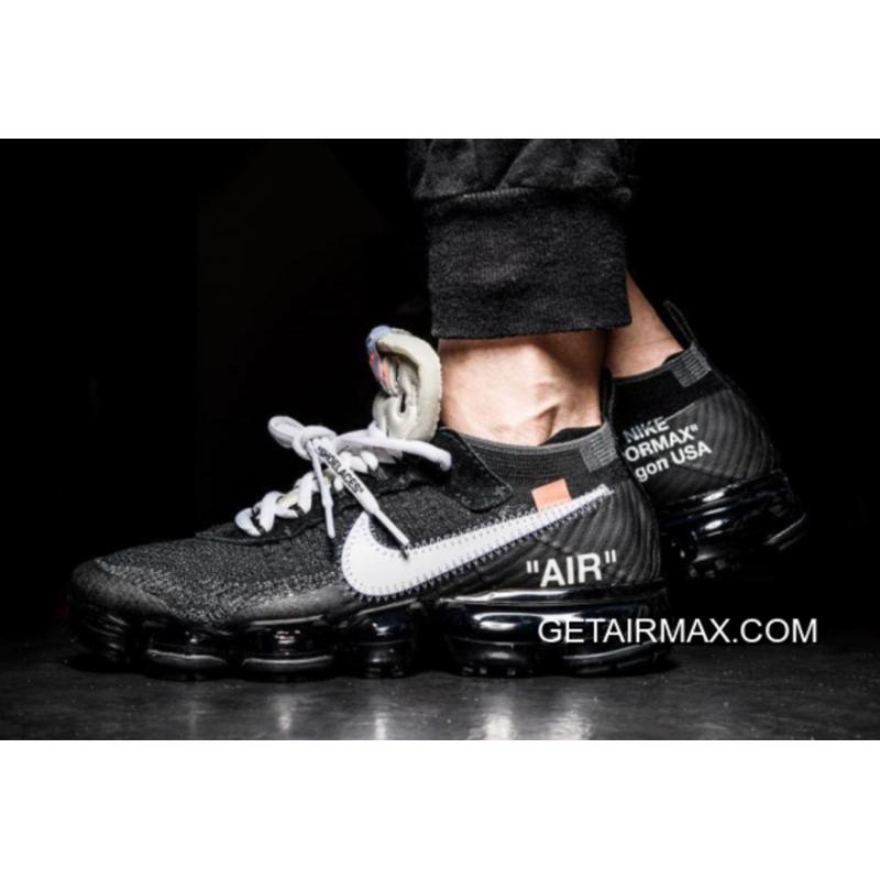 e16c423a458837 OFF-WHITE X Nike Air VaporMax Black And White-Clear-White New Style ...