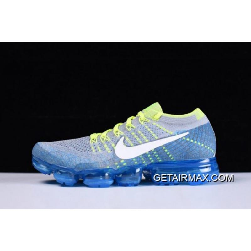 b3def148aa26e Nike Air VaporMax  Sprite  Wolf Grey And White And Chlorine Blue New Year  Deals ...