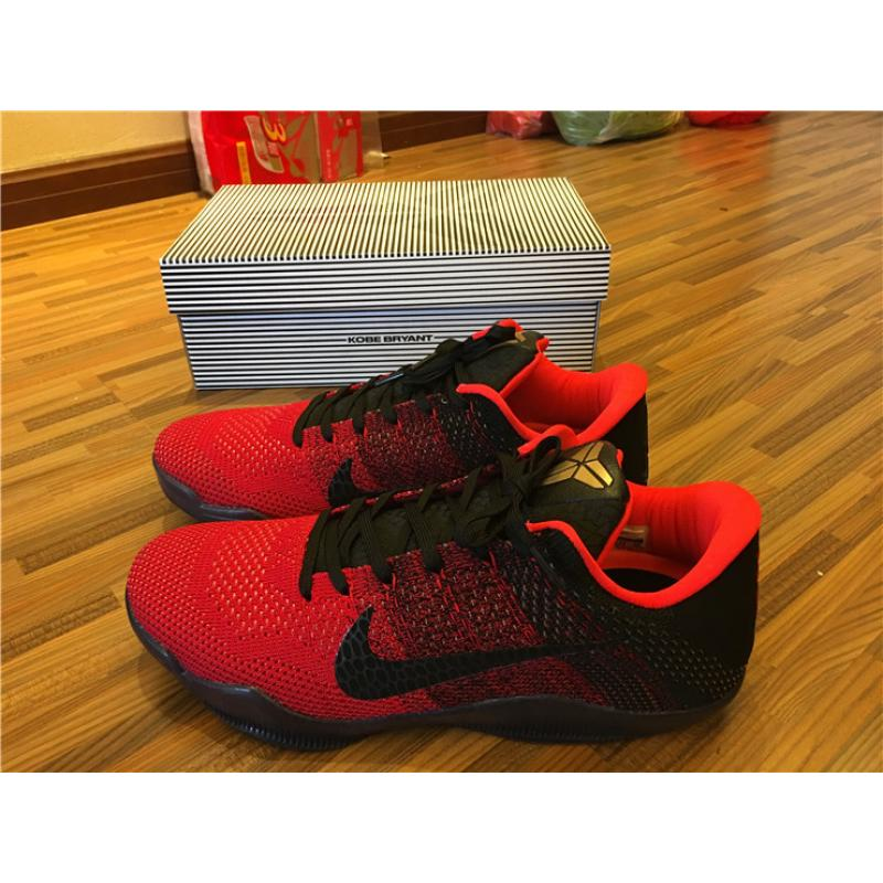 size 40 e506e 8b108 ... Nike Kobe 11  Achilles Heel  University Red And Metallic Gold-Black  Outlet ...