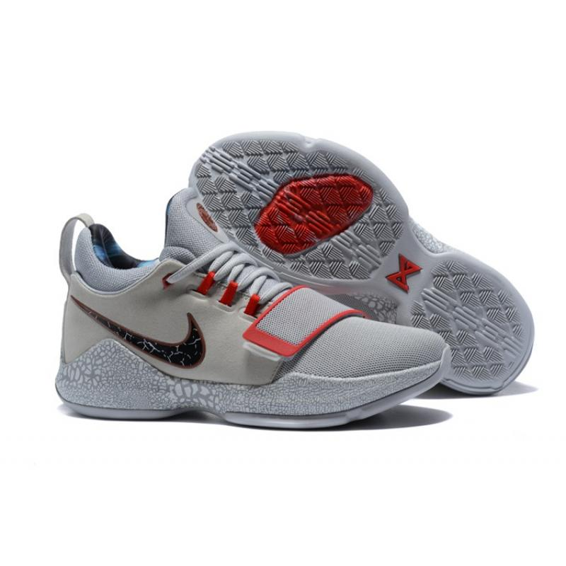 3488bc56bbfb Super Deals Nike PG 1  Gladiator  PE Grey And Red ...