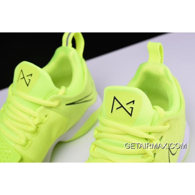 2ea9efeb4a35 ... Nike PG 1 Neon Volt And White Outlet ...