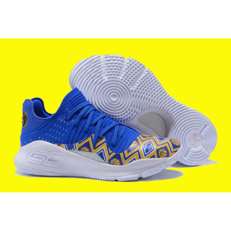 "def6fa85779b Latest Under Armour Curry 4 Low ""Dance Cam Mom"" Yellow White Blue ..."