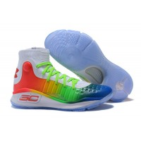 ea31a1f5a517 New Release Under Armour Curry 4 White Green Red Multi-Color