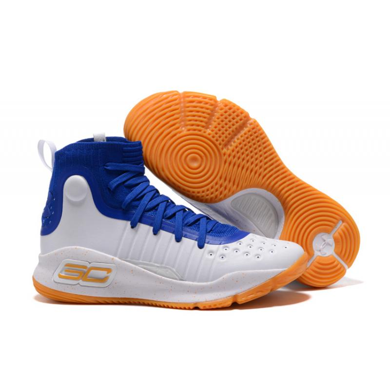 18dd0e64959 Free Shipping Under Armour Curry 4 White Royal Blue-Gum ...