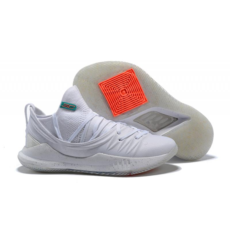 eb9b03335a28 Under Armour Curry 5  Triple White  Online ...