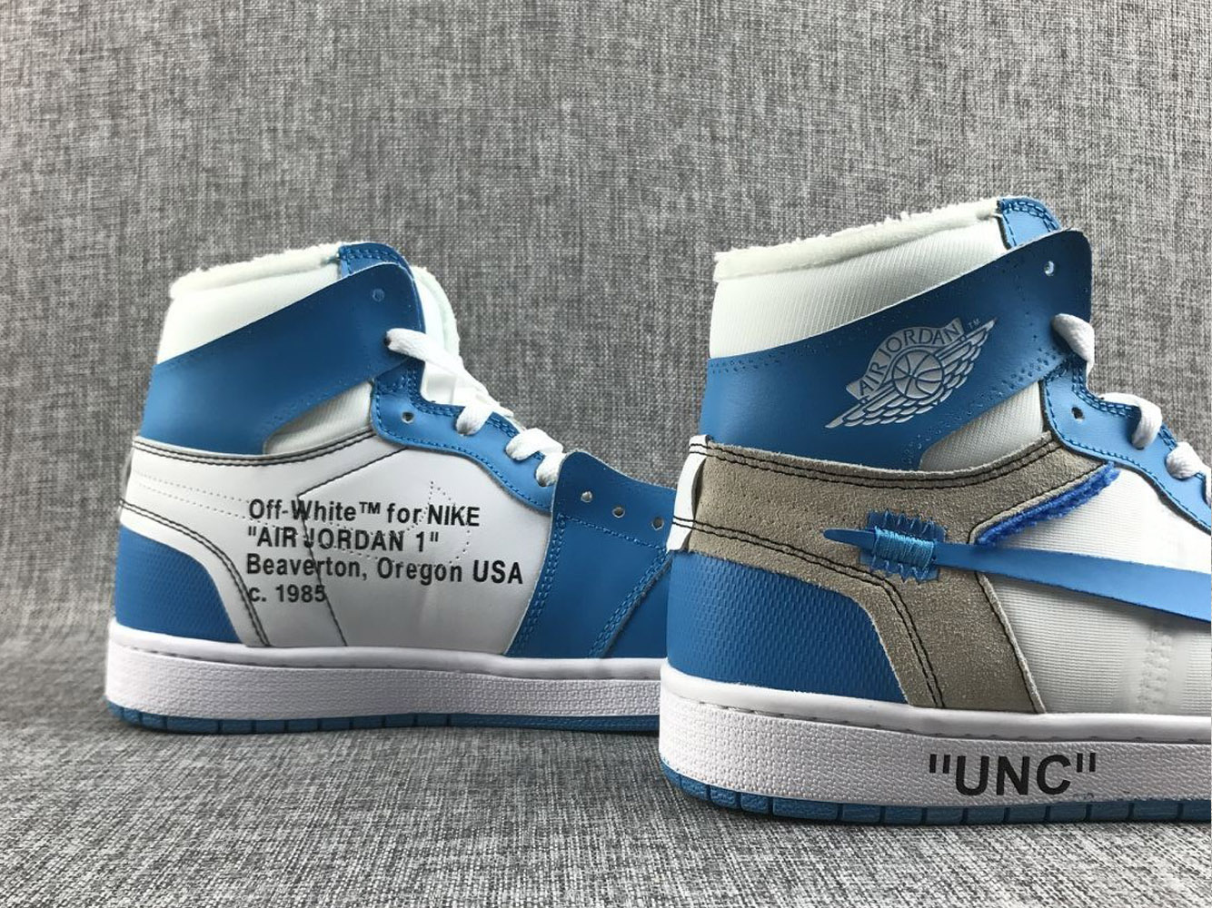 super specials cheap huge selection of New Style Off-White X Air Jordan 1 'UNC' White/University ...