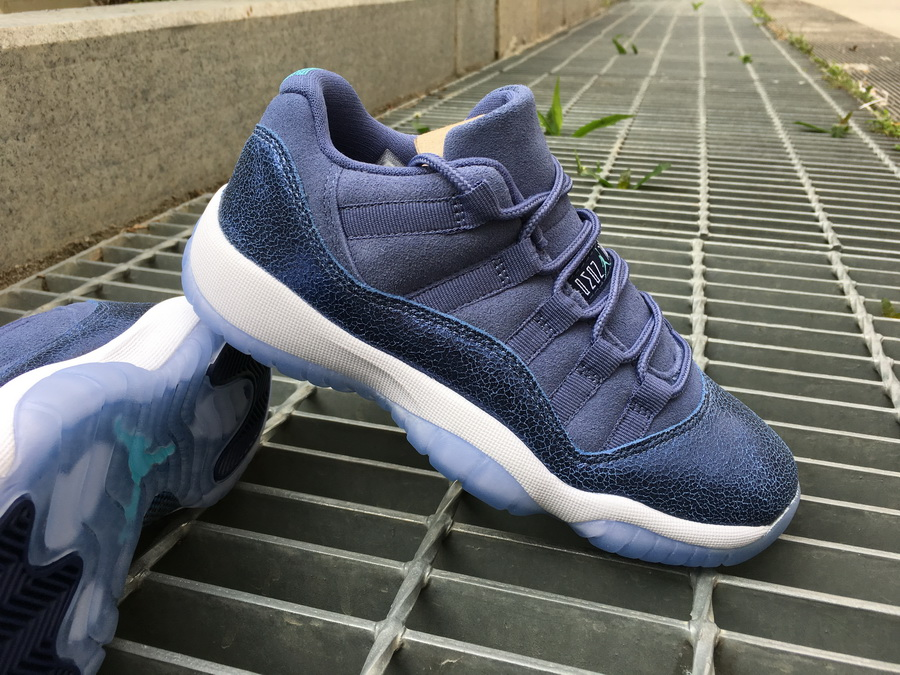 50cc06a2ab0f68 New Style Air Jordan 11 Low Blue Moon Blue Moon Sunset Blue-Binary Blue