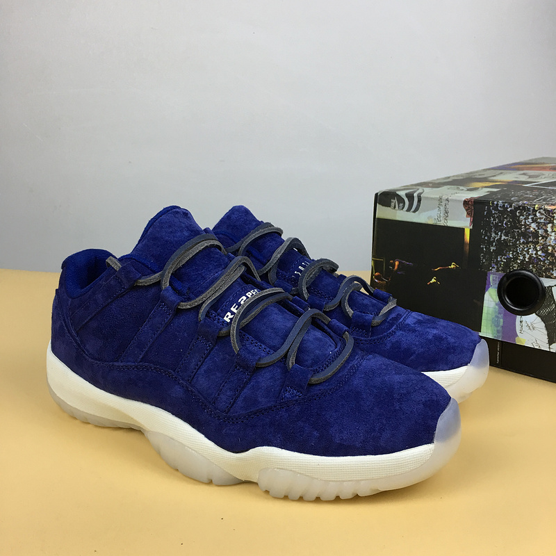 Air Jordan 11 Navy Blue Suede Low RE2PECT AV2187-441 Free Shipping ... 79746204738a