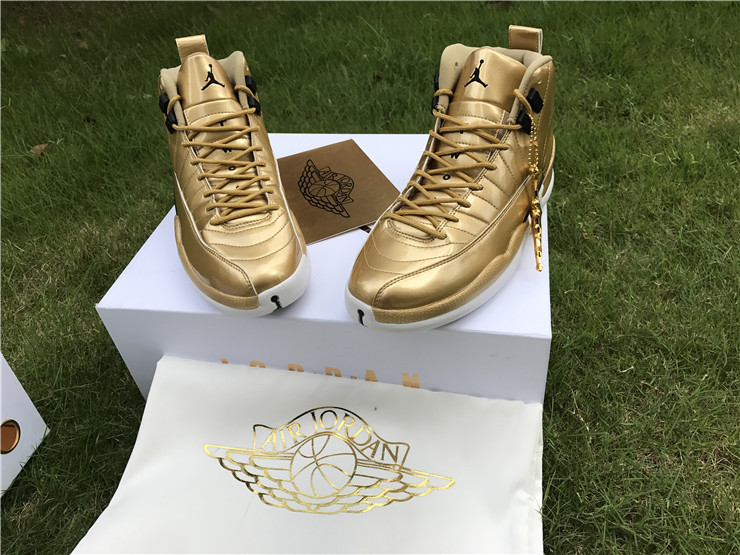 28df0776e527 Air Jordan 12 Pinnacle Metallic Gold Super Deals