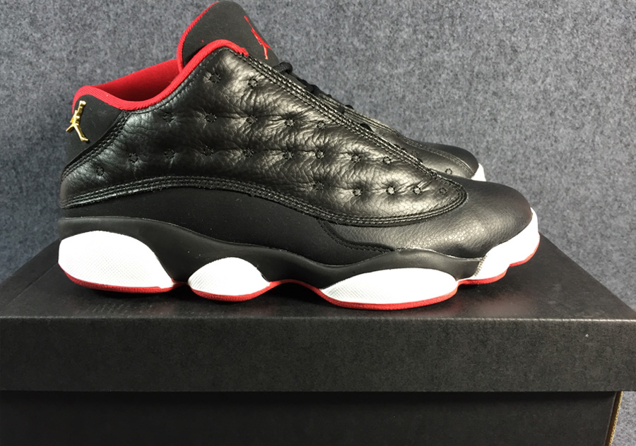 best authentic 9cadf a4384 Air Jordan 13 Low  Bred  Black And Metallic Gold-University Red-White