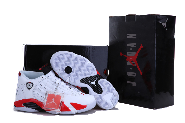 723bc864afcd For Sale Air Jordan 14  Candy Cane  White – Varsity Red And Black ...
