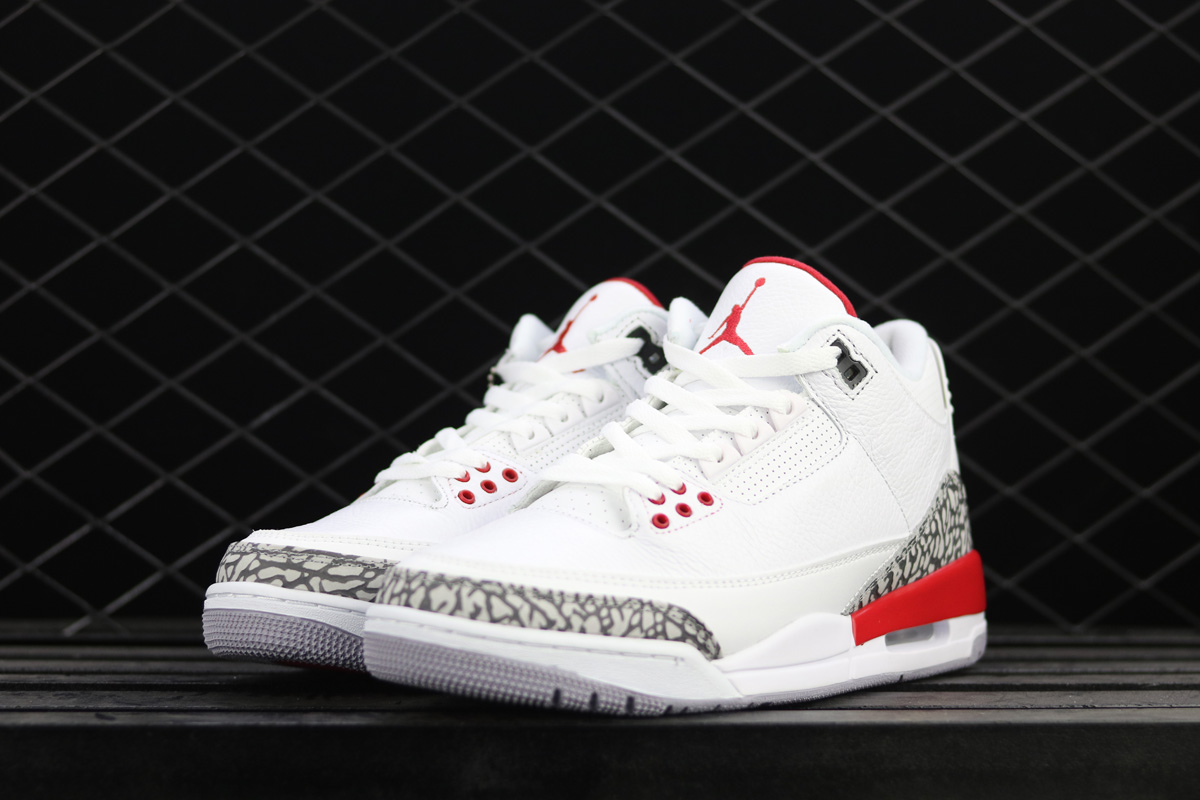 huge selection of ef84b 4dec7 Air Jordan 3  Katrina  White Cement Grey Black-Fire Red Latest