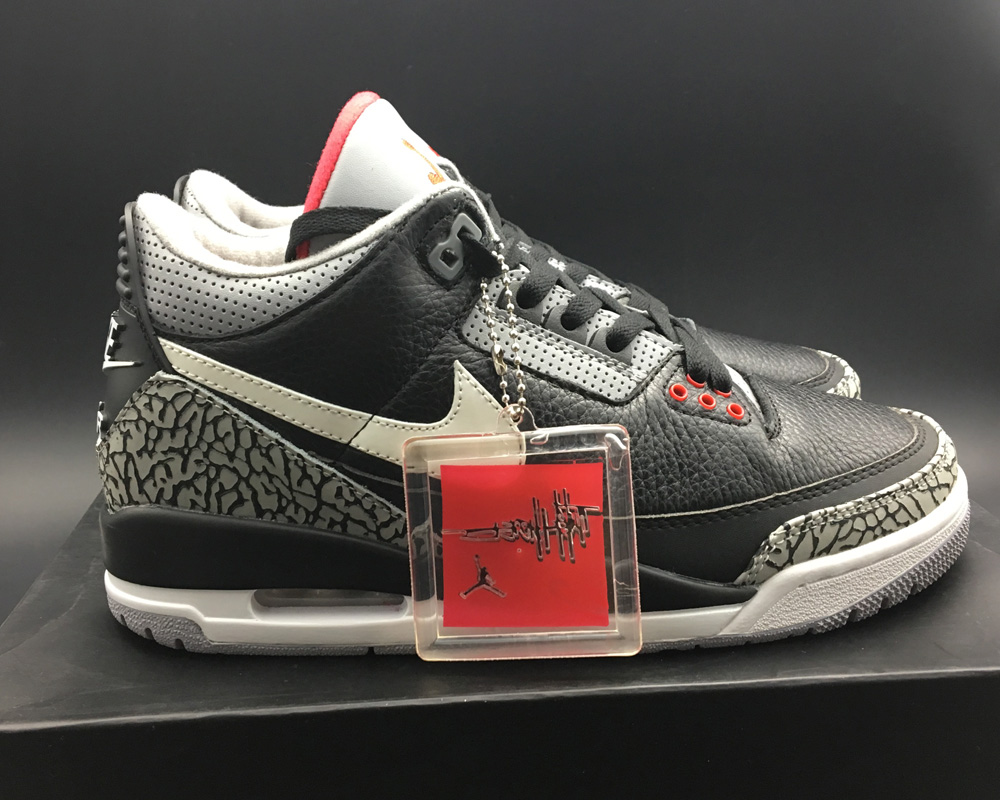 best value 8b1ea 2df19 BespokeIND s Custom Air Jordan 3 Retro Black Cement Online