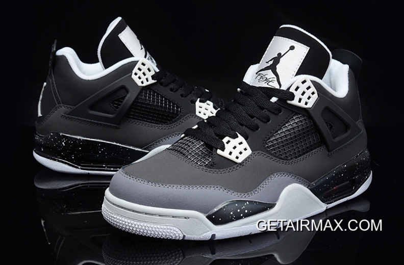 0e3530adc59f Air Jordan 4 Retro  Fear Pack  Black White-Cool Grey-Pure Platinum ...