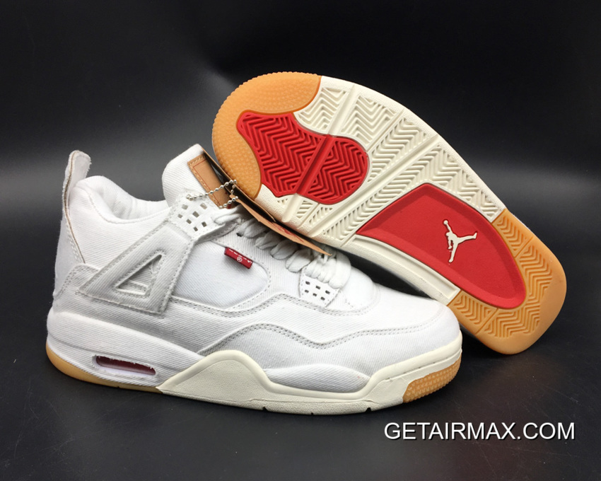 Levi s X Air Jordan 4 White Denim New Release cc269b2ae8