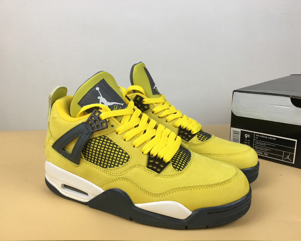 "new styles 4d16b 3f04f Air Jordan 4 Retro ""Lightning"" Super Deals"