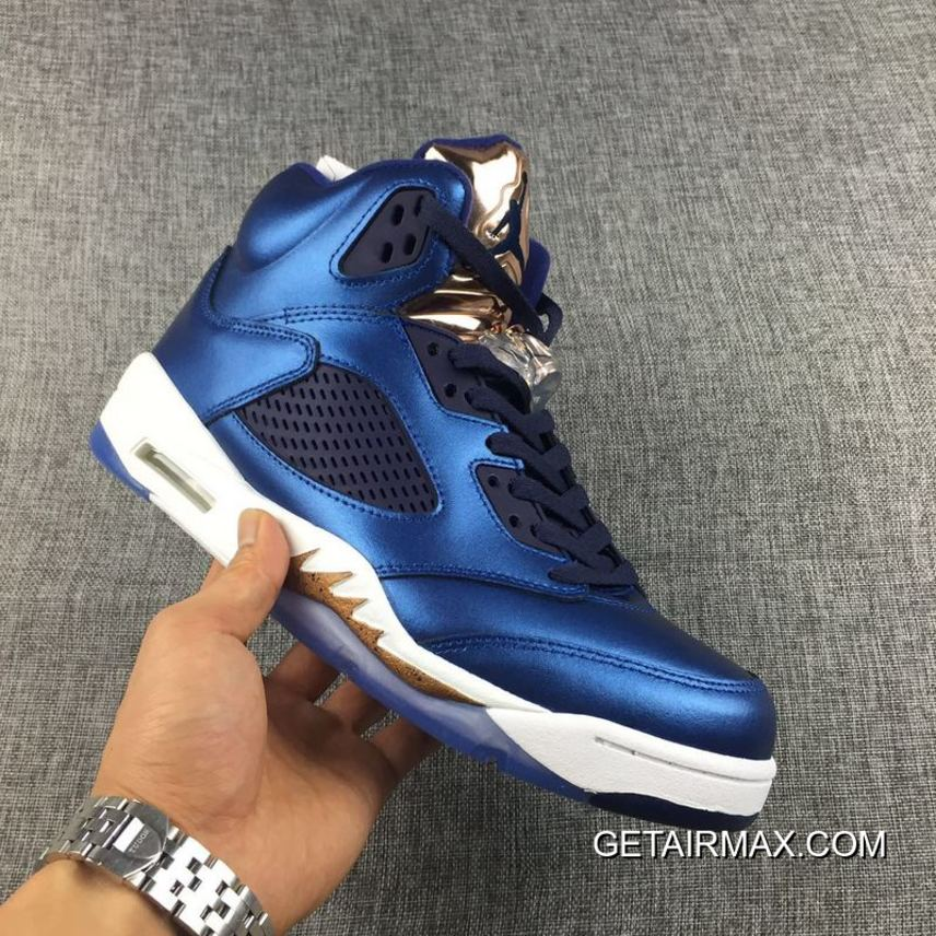 low priced b17ea 237d5 Outlet Air Jordan 5 Bronze Obsidian Olympic