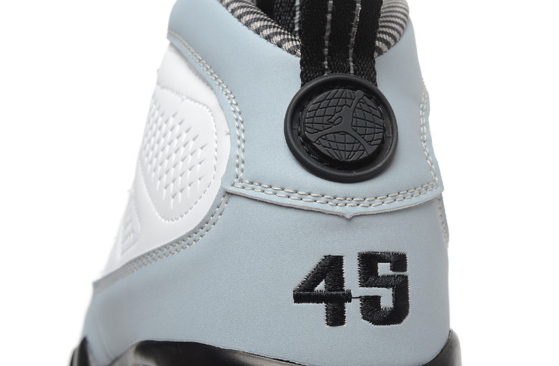the best attitude b558d 4893b Air Jordan 9 Retro  Barons  White And Black-Natural Grey New Style