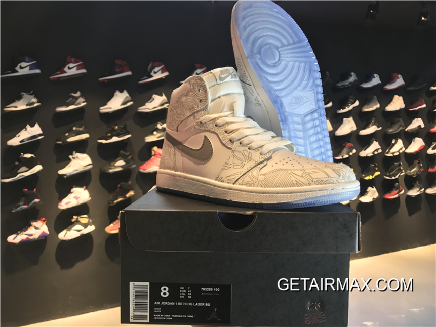 new product fefed a1727 Outlet Air Jordan 1 Retro High OG  Laser  White And Metallic Silver