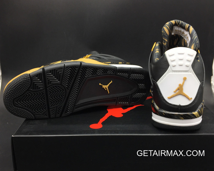 347f16df161 Latest Air Jordan 4 Retro 'Wings' Black Gold, Price: $89.17 - Air ...