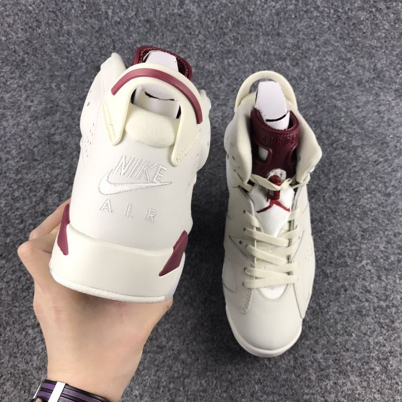 pretty nice 4cb7c 8bd22 ... For Sale Air Jordan 6  Maroon  Off White And New Maroon ...