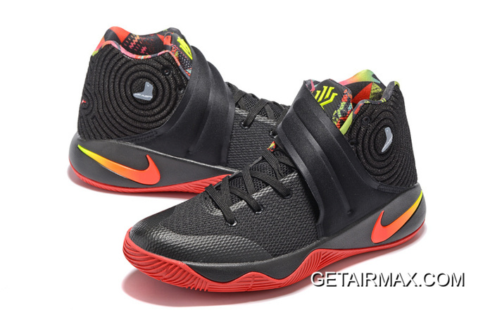 "c3f927ffeb76 Girls Nike Kyrie 2 ""Dream"" Black Red Latest"
