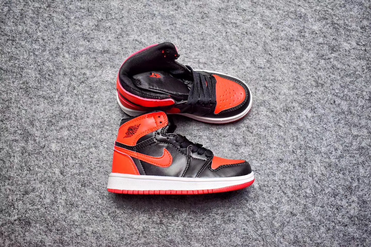 competitive price df82e cd275 Air Jordan 1 Retro 'Banned' Black Red For Kids Online