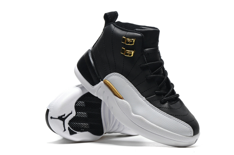 more photos 22ed3 af494 Air Jordan 12  Wings  Black Metallic Gold-White For Kids New Style