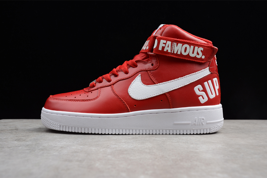 """Best Supreme X Nike Air Force 1 High """"Red"""" bb956ee0bfb5"""