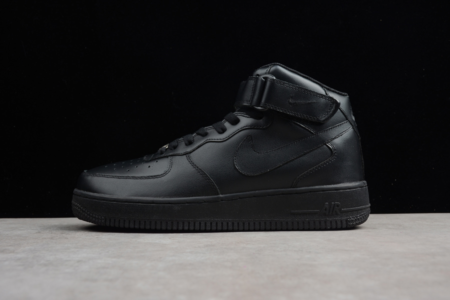 sports shoes 3e100 02dd4 Nike Air Force One Mid 07 Triple Black Free Shipping
