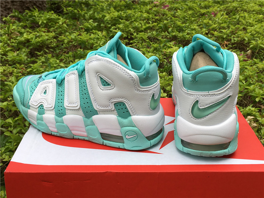new product b7b94 3364c ... new arrivals nike air more uptempo gs island green and white online  9e6d7 9d226