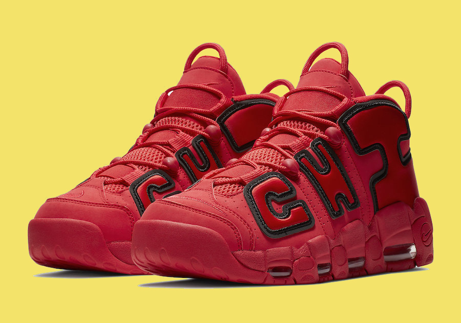 Top Deals Nike Air More Uptempo QS 'Chicago' BlackUniversity Red White