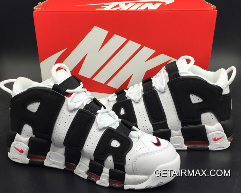 fa48ad5a5fa Nike Air More Uptempo 'Scottie Pippen' PE White And Black-Varsity Red Outlet