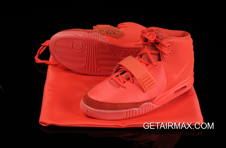 low priced 5c602 0678c Discount Glow In The Dark Nike Air Yeezy 2  Red October