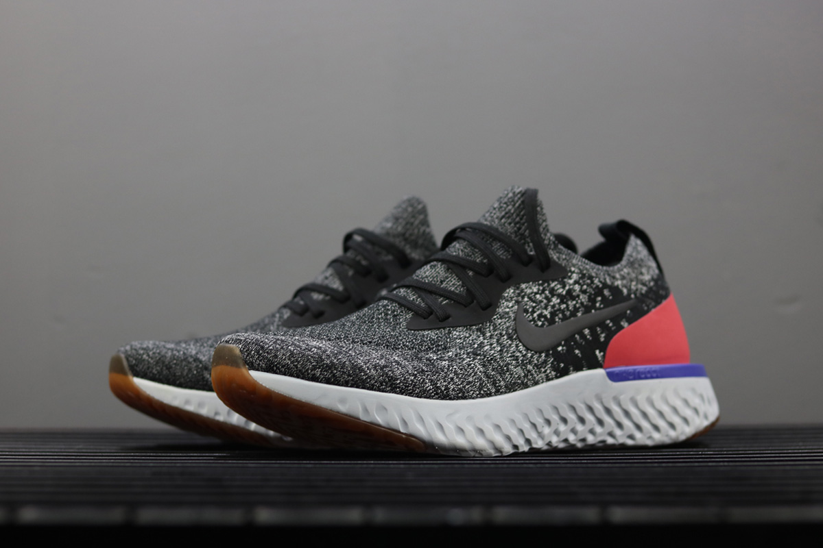 65f16fab067 Super Deals Nike Epic React Flyknit Black White Hyper Crimson
