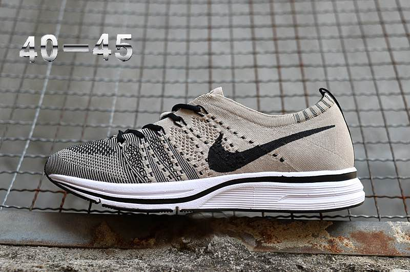 bed41a25880985 Best Nike Flyknit Trainer Pale Grey And Black-White