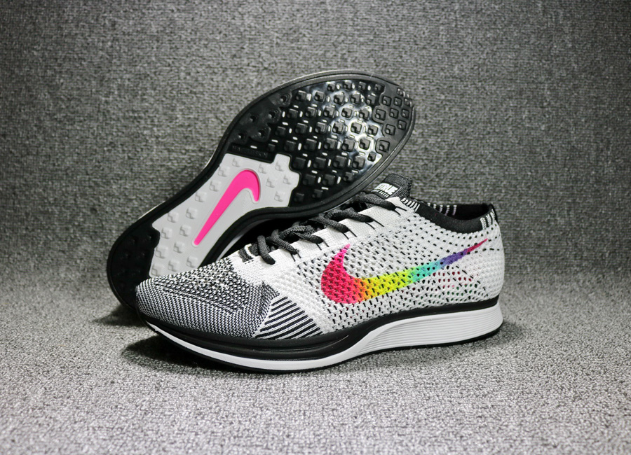 Nike Flyknit Racer  Be True  Multi-Color Black-White New Release ... 23a36e247