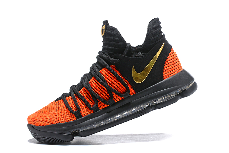 Nike KD 10  China Exclusive  Black Orange Gold Latest 5fff7aa23