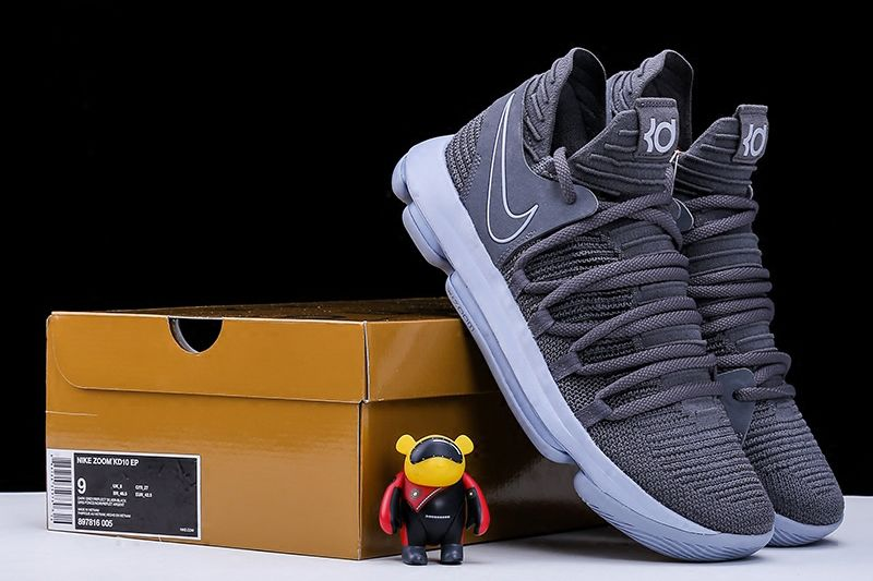 Nike KD 10 Dark Grey And Reflective Silver Super Deals 870a5b5cd2