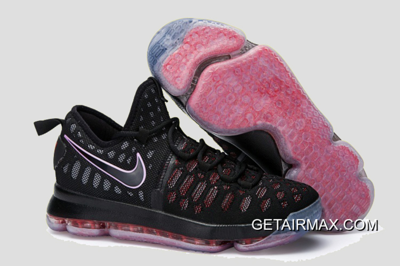 finest selection ea56e 2df7d Nike KD 9 Black Red New Style