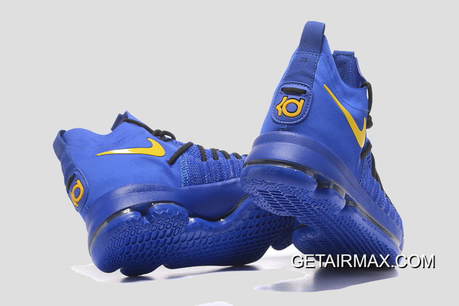 official photos d99cc 99c18 Nike KD 9 Elite  Golden State Warriors  PE Blue Yellow New Release