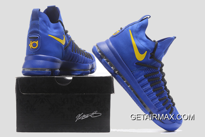 official photos 2ec99 22ed2 Nike KD 9 Elite  Golden State Warriors  PE Blue Yellow New Release