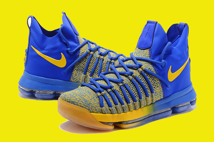"""new arrival dd6f9 54881 Best Nike KD 9 Elite """"Warriors Away"""" Royal Blue Yellow, Price ..."""