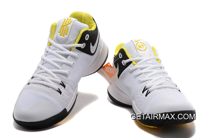 e2bc63740a99 For Sale Nike Kyrie 3  N7  White And University Gold-Black