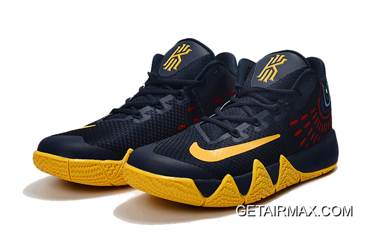 half off 415a6 6d0a1 Nike Kyrie 4 Deep Blue Yellow New Release