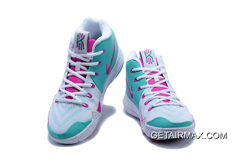 68e98be58b5 New Release Nike Kyrie 4 White And Pink-Mint Green