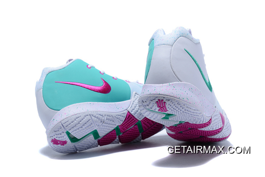 online store 6f5a2 8658f New Release Nike Kyrie 4 White And Pink-Mint Green
