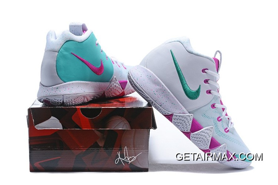 online store ed2ee 52ba5 New Release Nike Kyrie 4 White And Pink-Mint Green