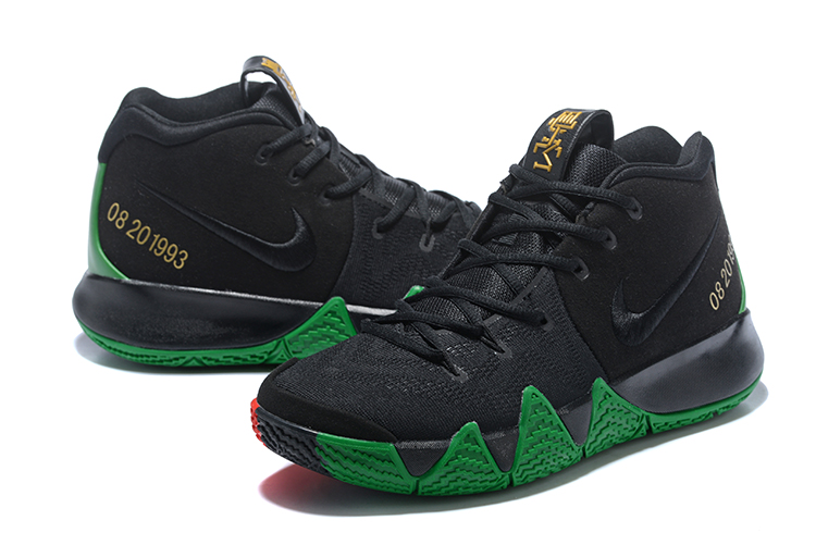 5fad752af4d Nike Kyrie 4 Black Green And Red Discount